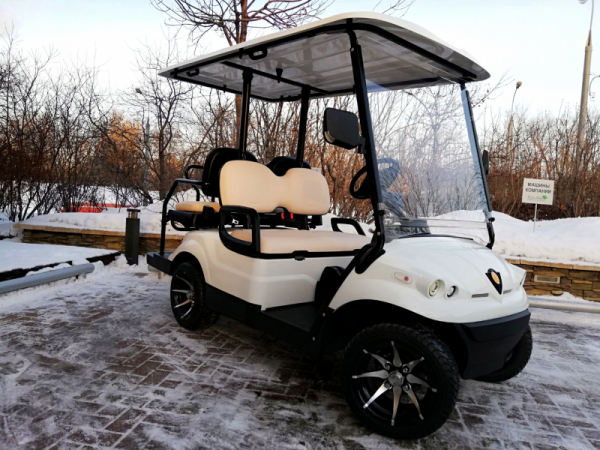 Golf cart Concordiya GK2 + 2 with a platform